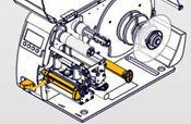 Novexx Internal rewind + dispensing edge, factory installed, BASIC version