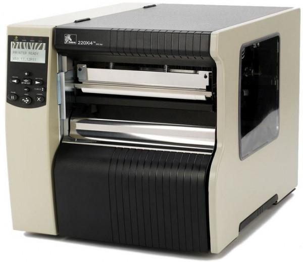 Zebra 220Xi4 Etikettendrucker 300dpi 216mm Spender& Aufwickler