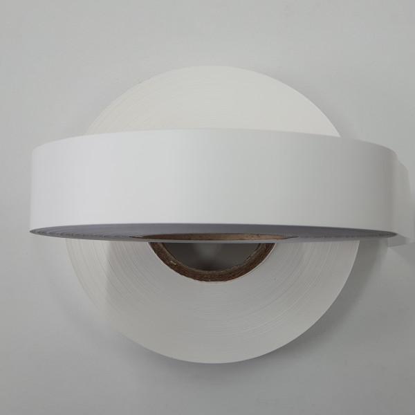 Polyester-Taft (5485), weiß, 40mm Breite, Kern76mm, Rolle a'' 200lfm